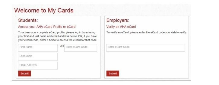 AHA BLS & Heartsaver eCard Instructions: Email Verification